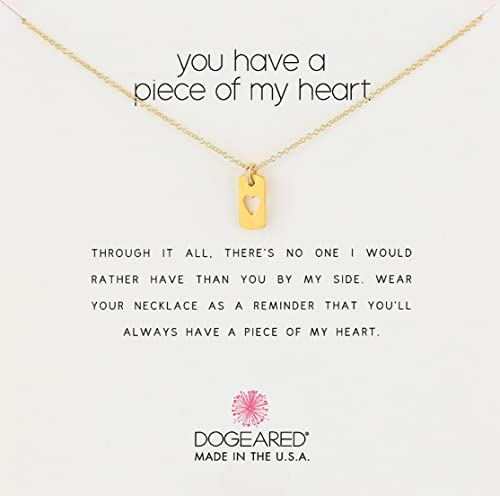 25b4eb8fe0929 Dogeared Gold You Have A Piece of My Heart Pendant Necklace, 18 ...
