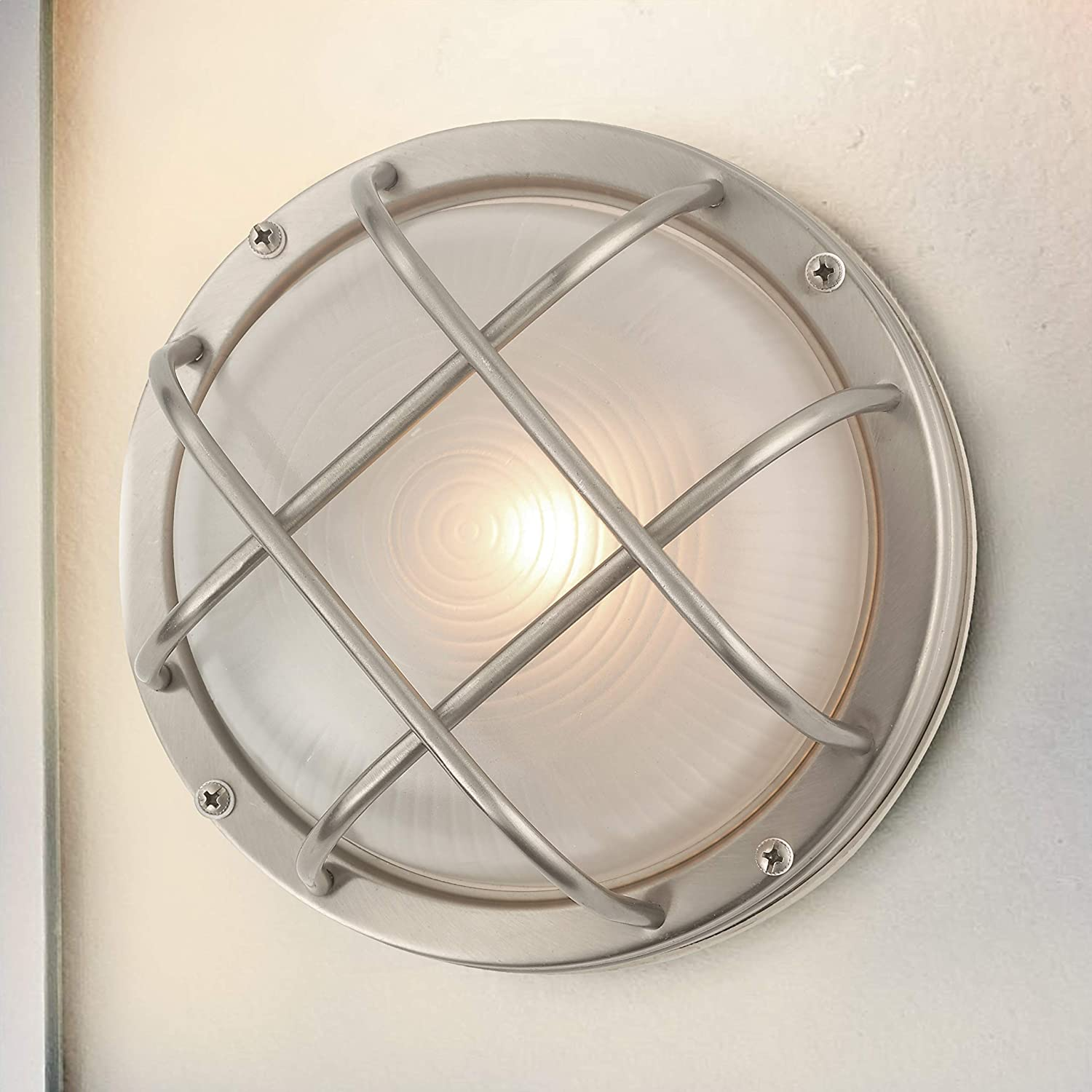 Bulkhead Marine Outdoor Ceiling/Wall Light - 8-Inches Wide - Wall ...