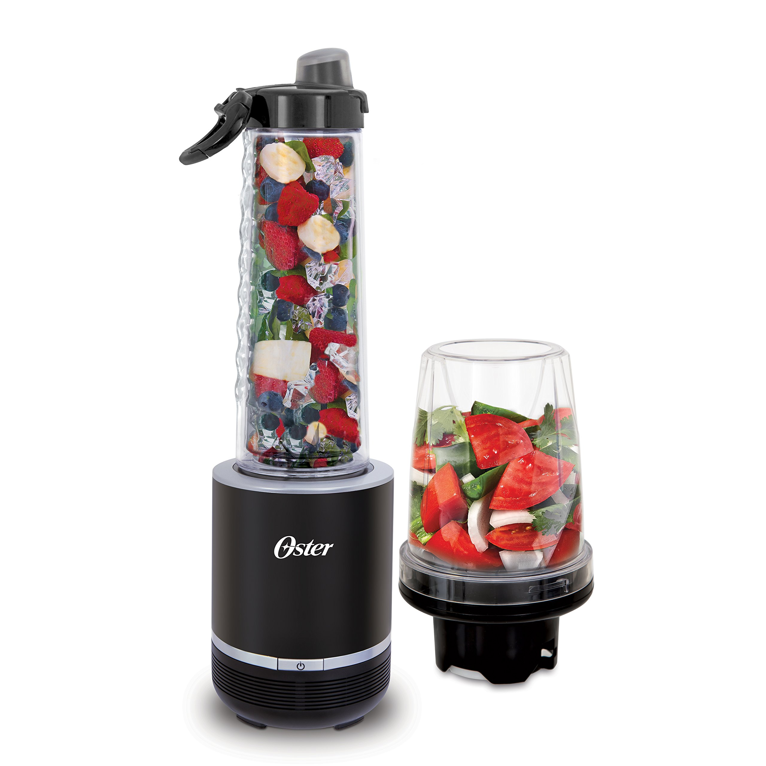 Oster Blend Active 2-in-1 Personal Blender with Food Chopper, Black