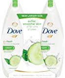 Dove go fresh Body Wash, Cucumber and Green Tea 22 Ounce, Twin Pack
