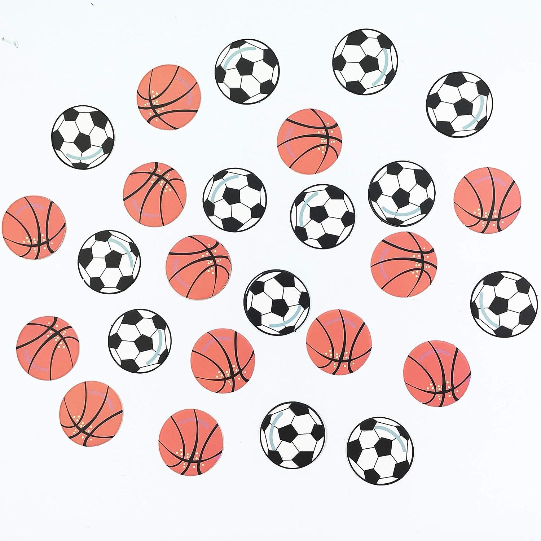 100 confeti de balón de fútbol y baloncesto para fiestas de ...