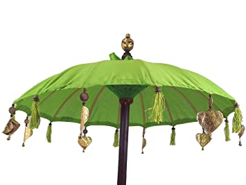 Guru-Shop Paraguas Ceremonial, Paraguas Decorativo Asiático - Limón, Verde, Quitasoles