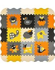 meiqicool Puzzle Play Mat Foam Floor Mats for Kids Baby Room Decor Children Interlocking Jigsaw Playmat Tiles,P011B