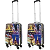 5 Cities Jetsetter Hard Shell Polycarbonate Travel Trolley Luggage Suitcase with 4 Wheels