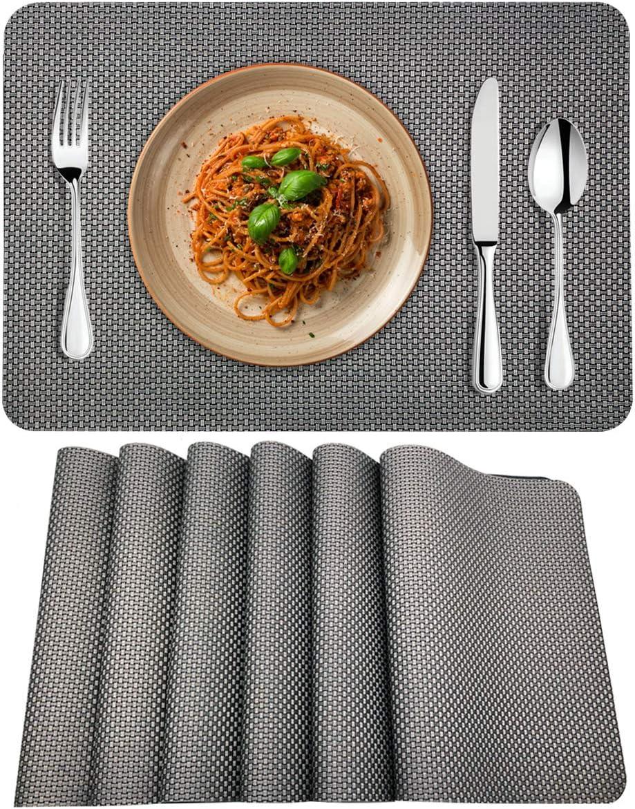 Platzsets abwaschbar Motiv /'Strandmuscheln/' 4x Tischsets Platzmatten