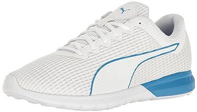 3f9fe56a61e PUMA Men s Vigor Dash Cross-Trainer Shoe White-French Blue