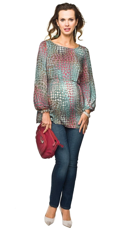 Elegante und Bequeme - Tunika, Umstandstunika, Modell: Pucci Grü n XL