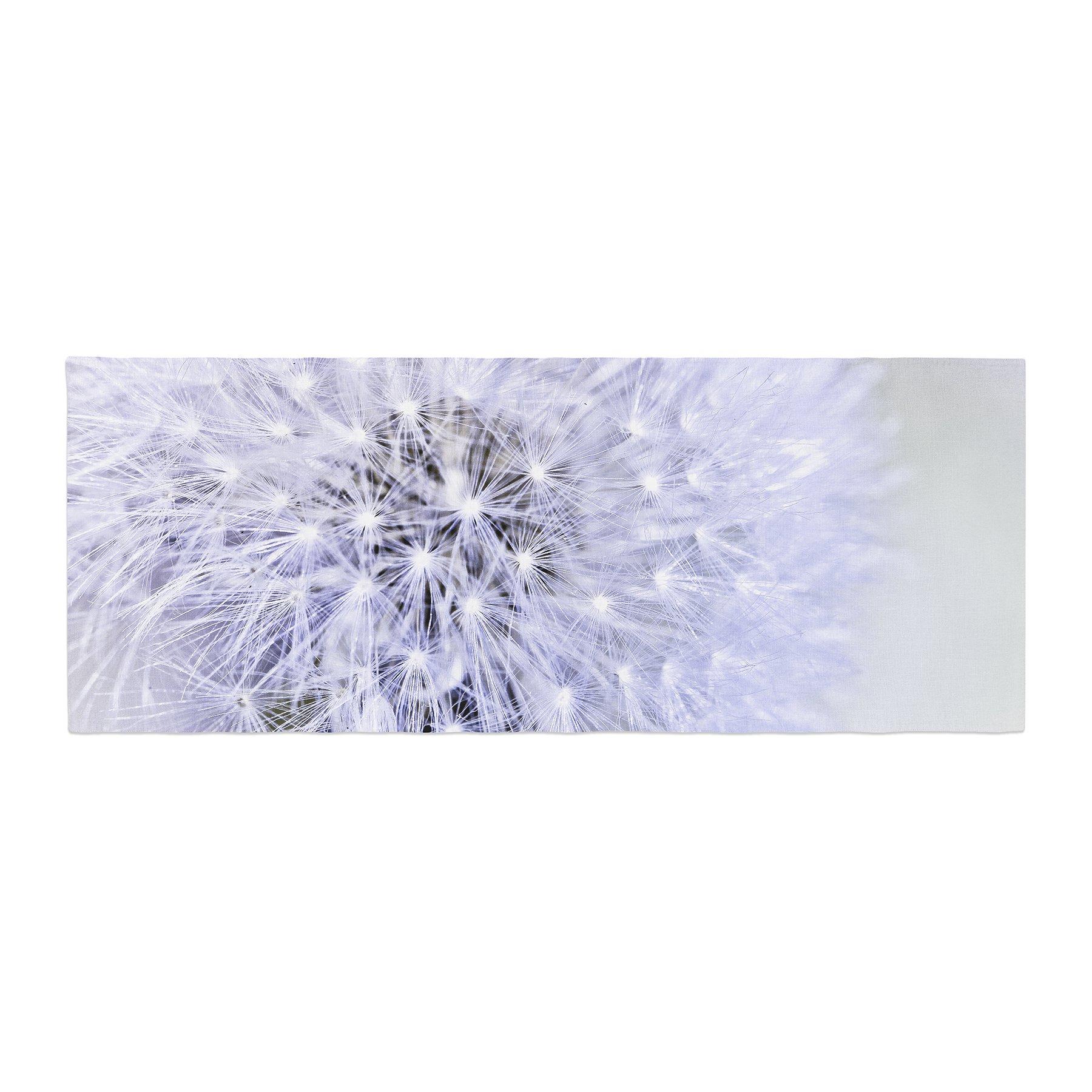 Kess InHouse Debbra Obertanec Lavender Wish Purple Flower Bed Runner, 34'' x 86''