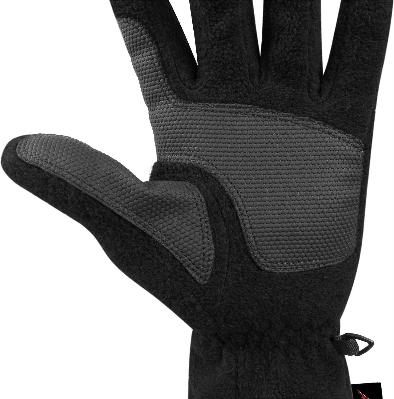 76e4f58169ba7f normani Winter Fleece Handschuhe Schwarz mit Thinsulatefütterung bis -10  Grad: Amazon.de: Sport & Freizeit