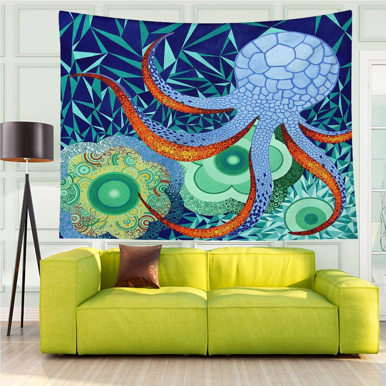 MinGz Octopus Tapestry Wall Hanging Versatile,Abstract Octopus Garden,Tapestry for Living Room Bedroom Dorm Home Decor,70x50 in