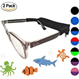 Baby Kids Glasses Sunglasses Strap 2 Pack with Bonus Deep Sea Adventure Stickers