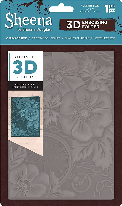 "New Sheena Douglass 3D Embossing Folder 5x7/"" Wisteria Wall"