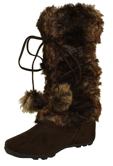 5043d40041311 Amazon.com | Blossom Women's Tara-Hi Faux Fur Mid Calf Winter Boots ...