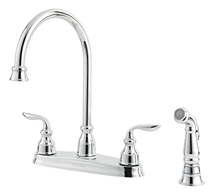 Pfister Lf0364cbc Avalon 2 Handle Kitchen Faucet With Side Spray