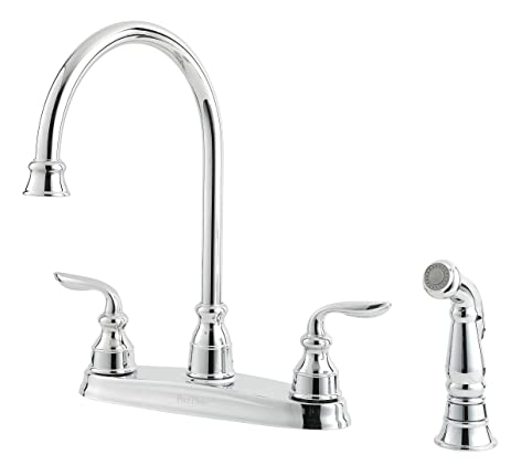 Pfister LF0364CBC Avalon 2-Handle Kitchen Faucet with Side Spray ...