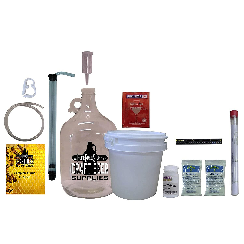 Homebrewstuff One Gallon Nano-meadery Mead Starter Kit: Amazon.com ...