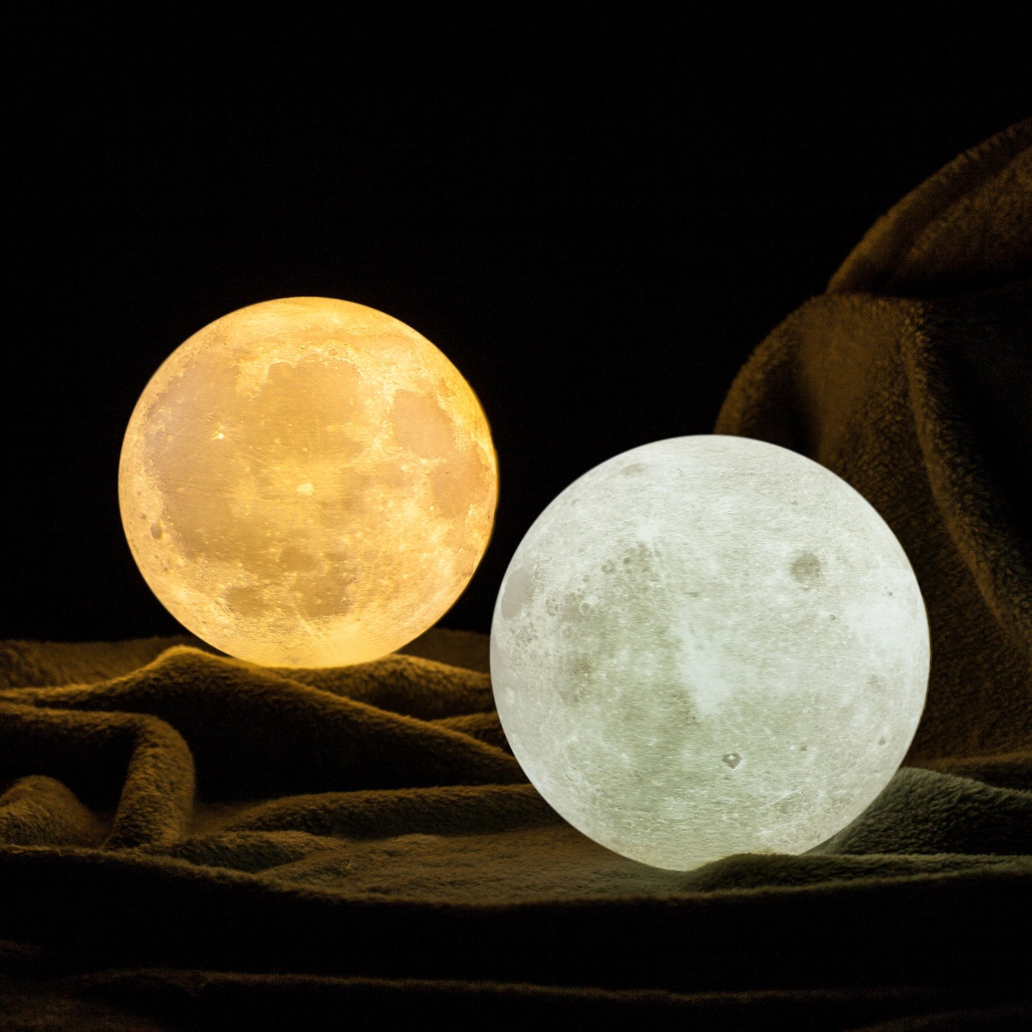 Amazon gpjoy moon lamp 3d printing moon night light amazon gpjoy moon lamp 3d printing moon night light rechargeable lunar night light dimmable touch control brightness warm and cool white arubaitofo Image collections