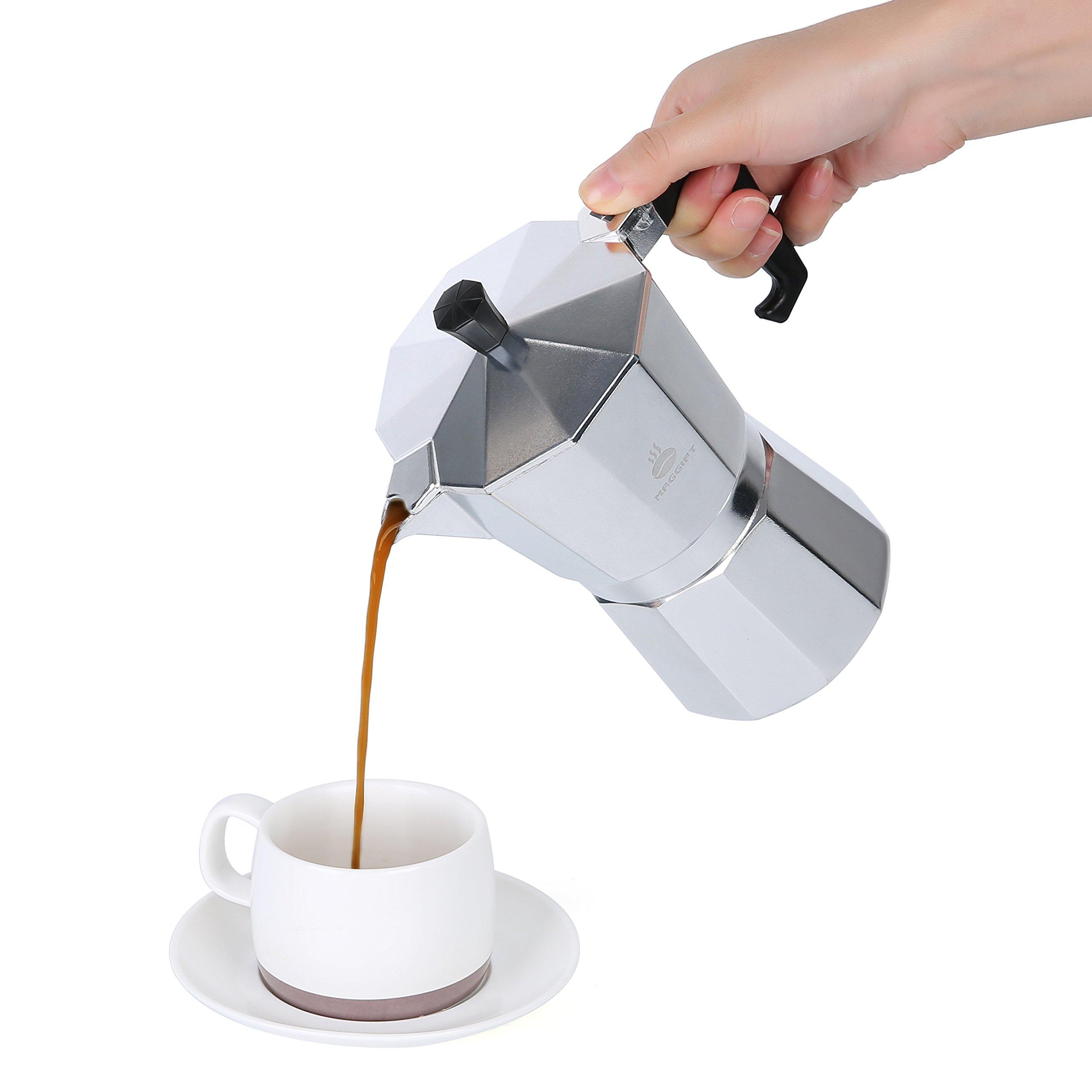 Maggift Stovetop Coffee Maker, Aluminum Italian Moka Pot (6 Cup) by Maggift (Image #4)