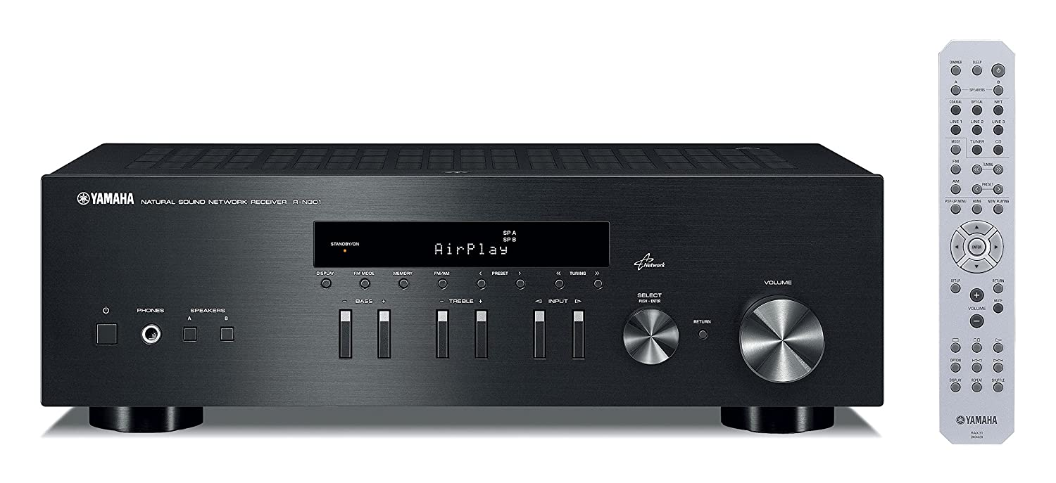 Amazon.com: Yamaha R-N301BL Network Stereo Receiver, Black: Home Audio & Theater