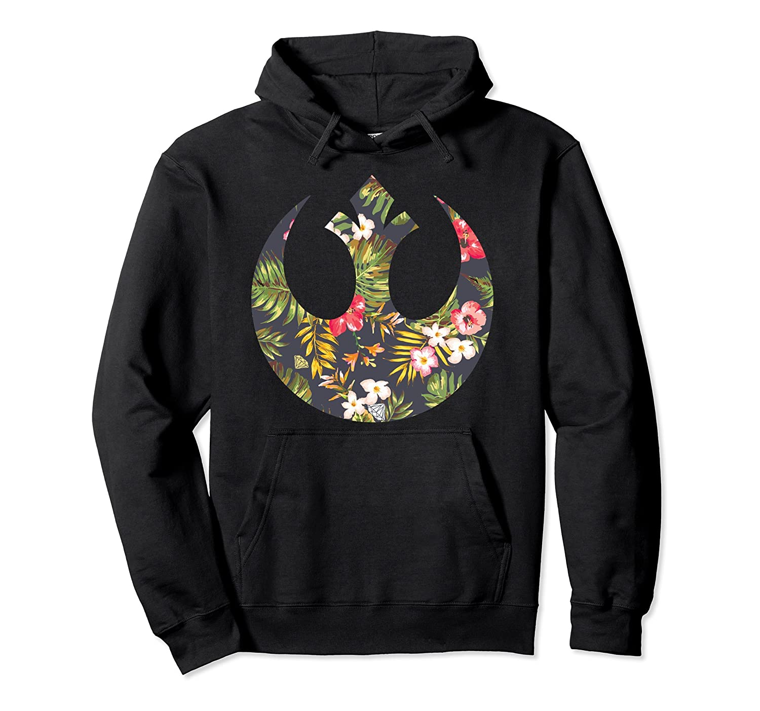 bee34cf9e5c Amazon.com  Star Wars Rebel Alliance Floral Print Graphic Hoodie  Clothing