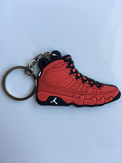 new style c7497 8d66d Amazon.com : Jordan Retro 9 Motorboat Jones Sneaker Keychain ...