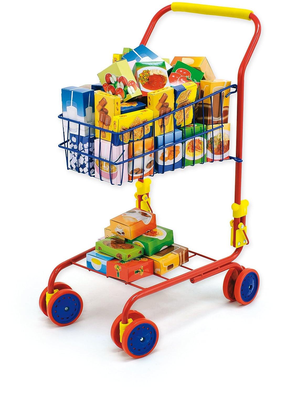 Bayer Design Einkaufswagen Kind mit Inhalt