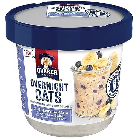 Image result for quaker blueberry banana overnight oats
