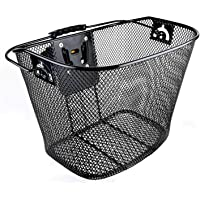 Venzo Bicycle Bike Front Basket Wicker with Quick Release