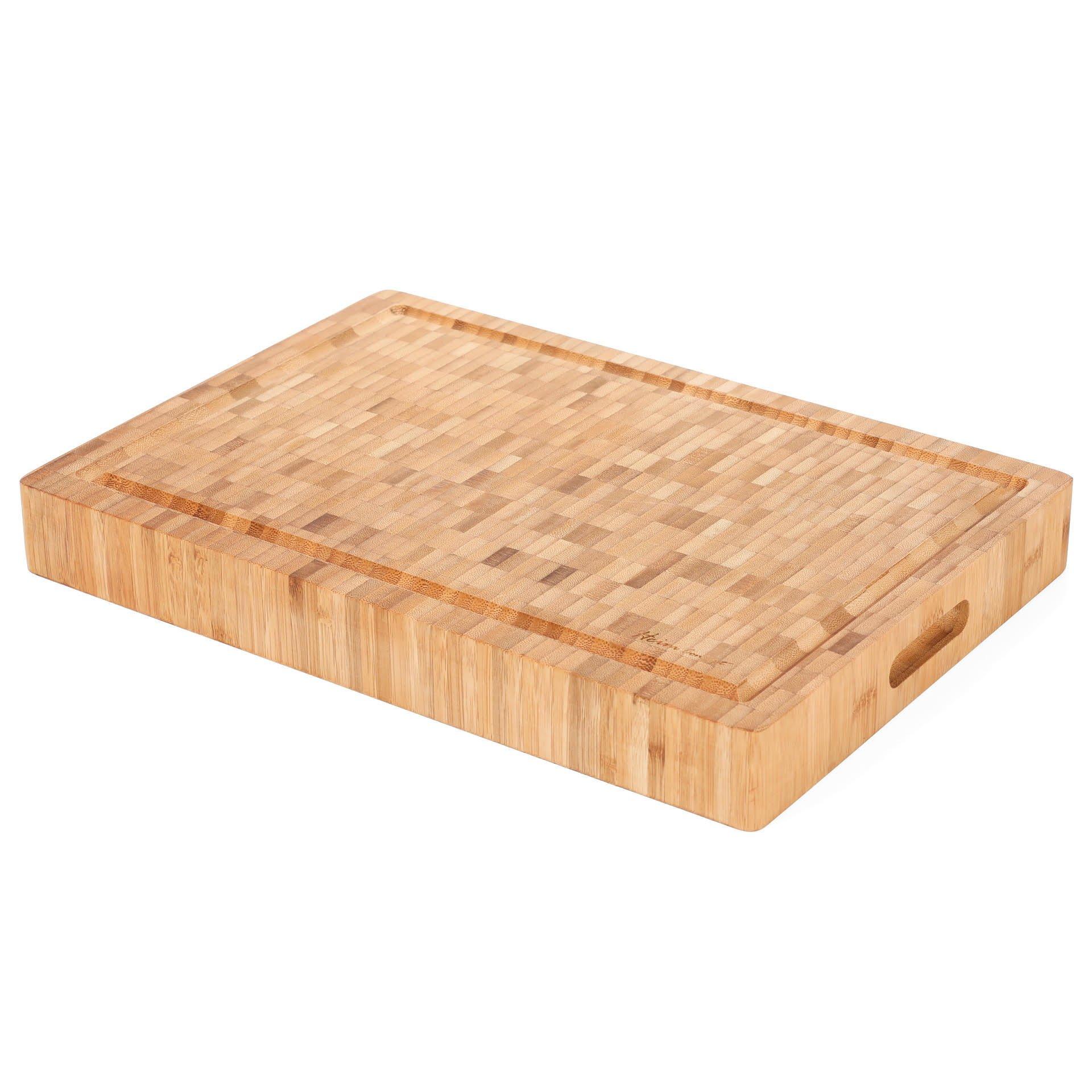 Heim Concept 1PC Premium Large [17'' x 12'' x 2''] Organic Bamboo Butcher Block Chopping Board Cutting Board, Professional Grade by Heim Concept (Image #1)