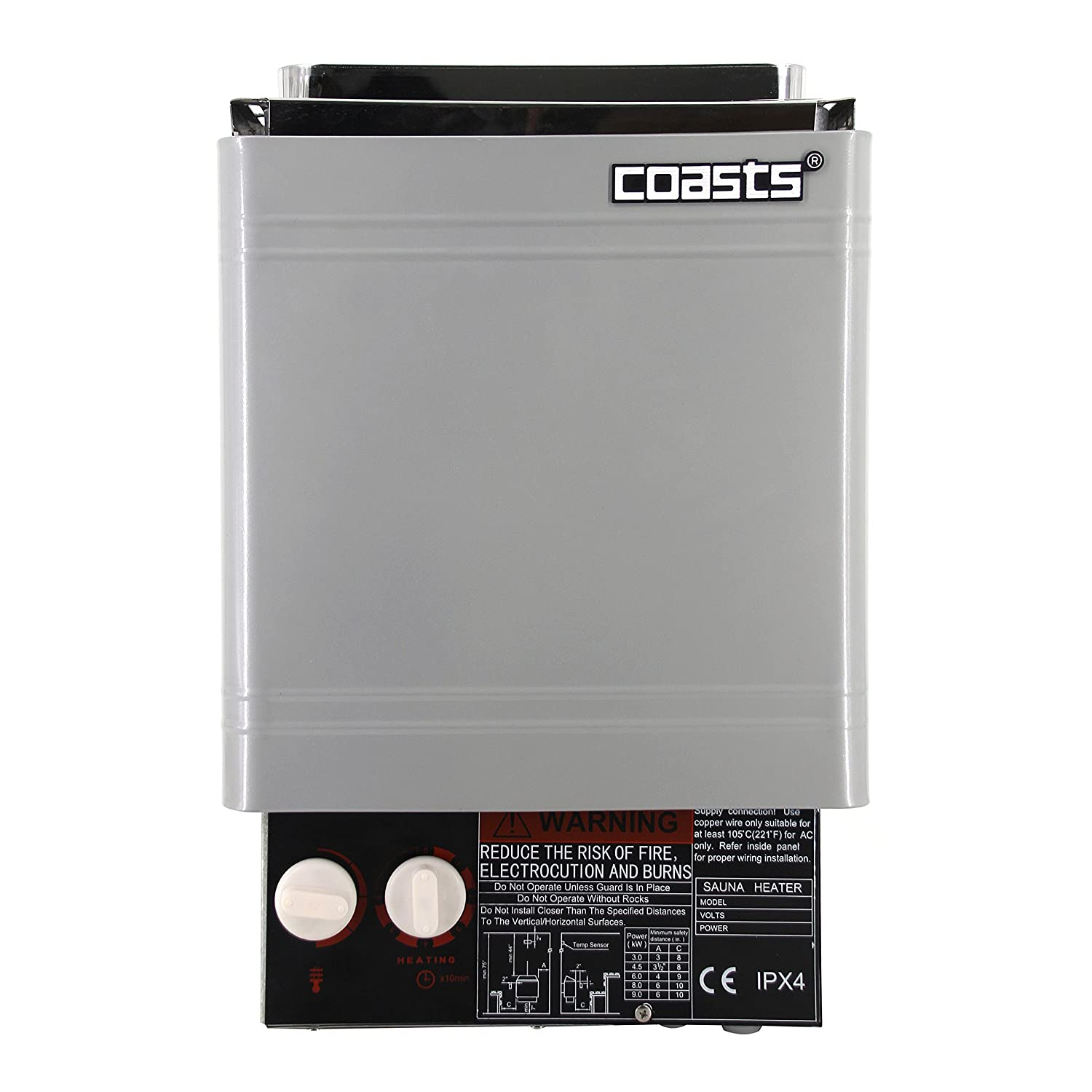 Coasts AM30A 3 kW Wet and Dry Sauna Heater Stove for Spa Sauna Room