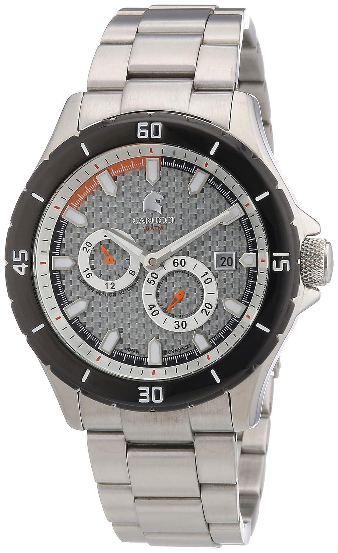Carucci Watches CA2187ST-SL - Reloj analógico automático para hombre, correa de acero inoxidable color plateado (agujas luminiscentes, cifras luminiscentes)