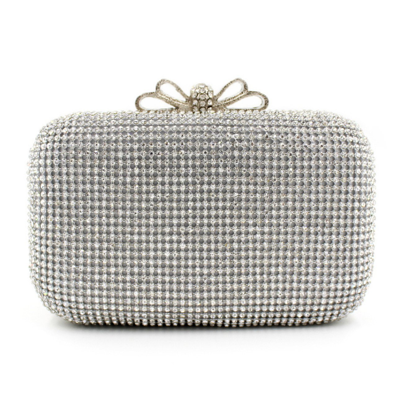 Clutch Evening Bag, Fit & Wit Giltter Beaded Flap Clutch Evening Handbag Purse (Style 3)