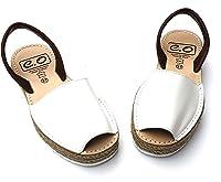 Avarca Menorquina Doble Yute - Sandalia de Plataforma Señora Mujer de Piel/Cuero - Color Mostaza