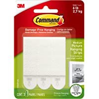 Command Medium Picture Hanging Strips, 3-Pairs per Pack, 6-Packs (18 Pairs Total), Decorate Damage-Free