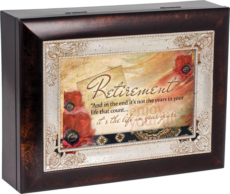 新しい季節 Retirement Life Tune in Your年ダークウッド仕上げジュエリー音楽ボックスPlays Tune Retirement Wind Beneath My My Wings B016P7G3PM, EARTH PIECE:aff790ec --- arcego.dominiotemporario.com