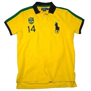 5d668f4d Polo Ralph Lauren Slim Modern Field Country Polo Shirt, Brazil, Slicker  Yellow, M