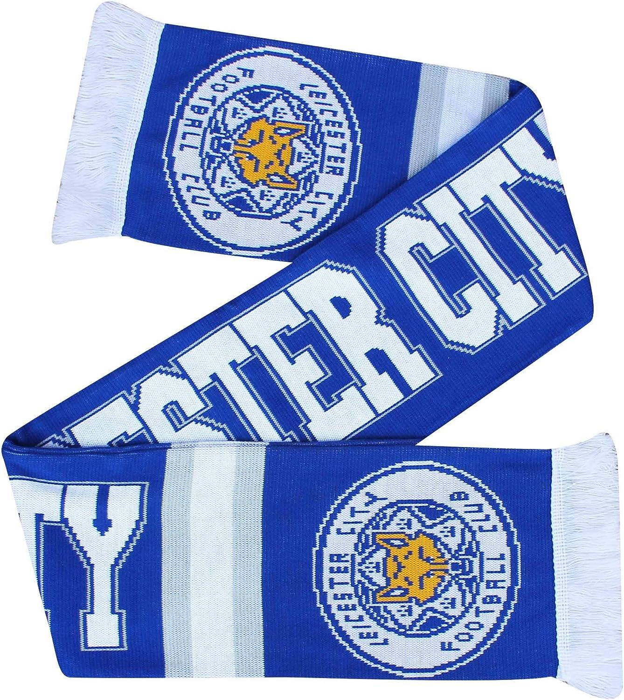 100/% Acrylique /Écharpe Officielle de Supporter de Football Leicester City