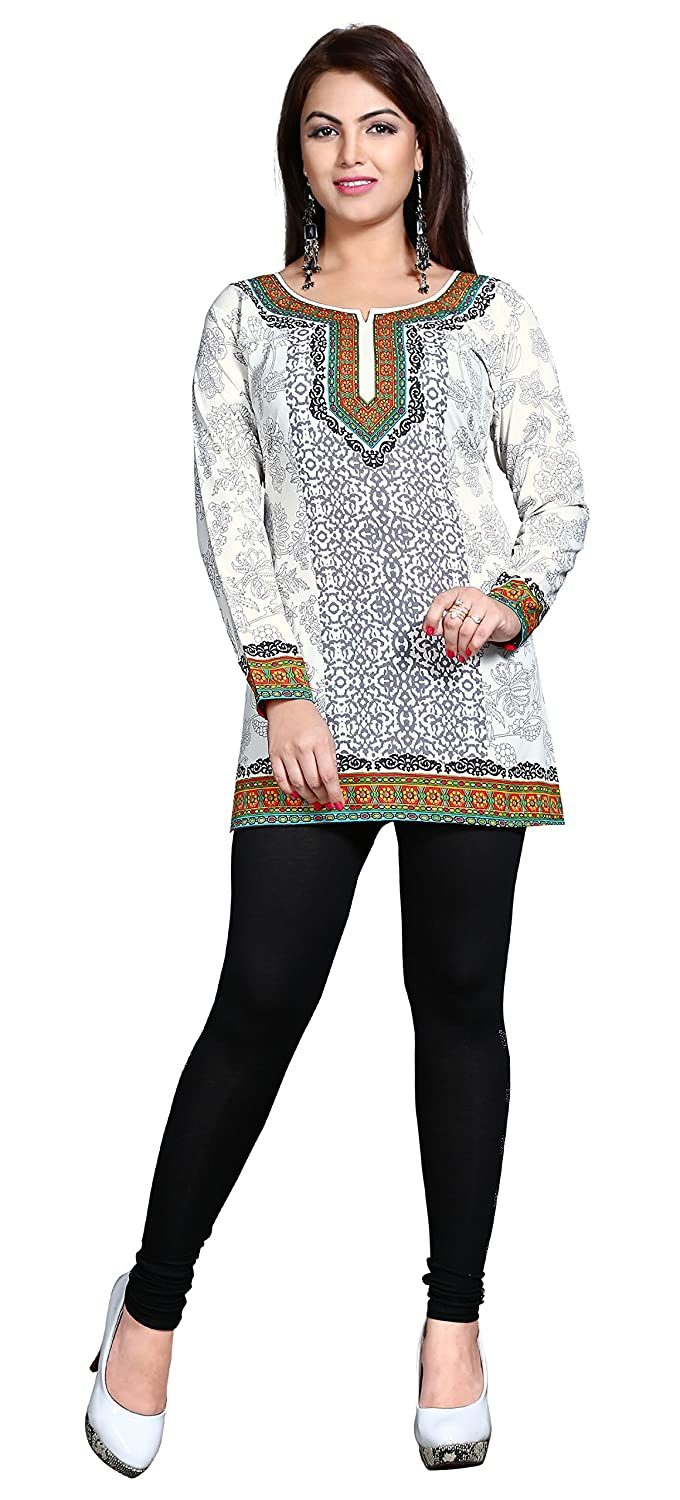 Maple Clothing Kurti Printed Short Tunic Top Womens Blouse Indian Clothes Event128p
