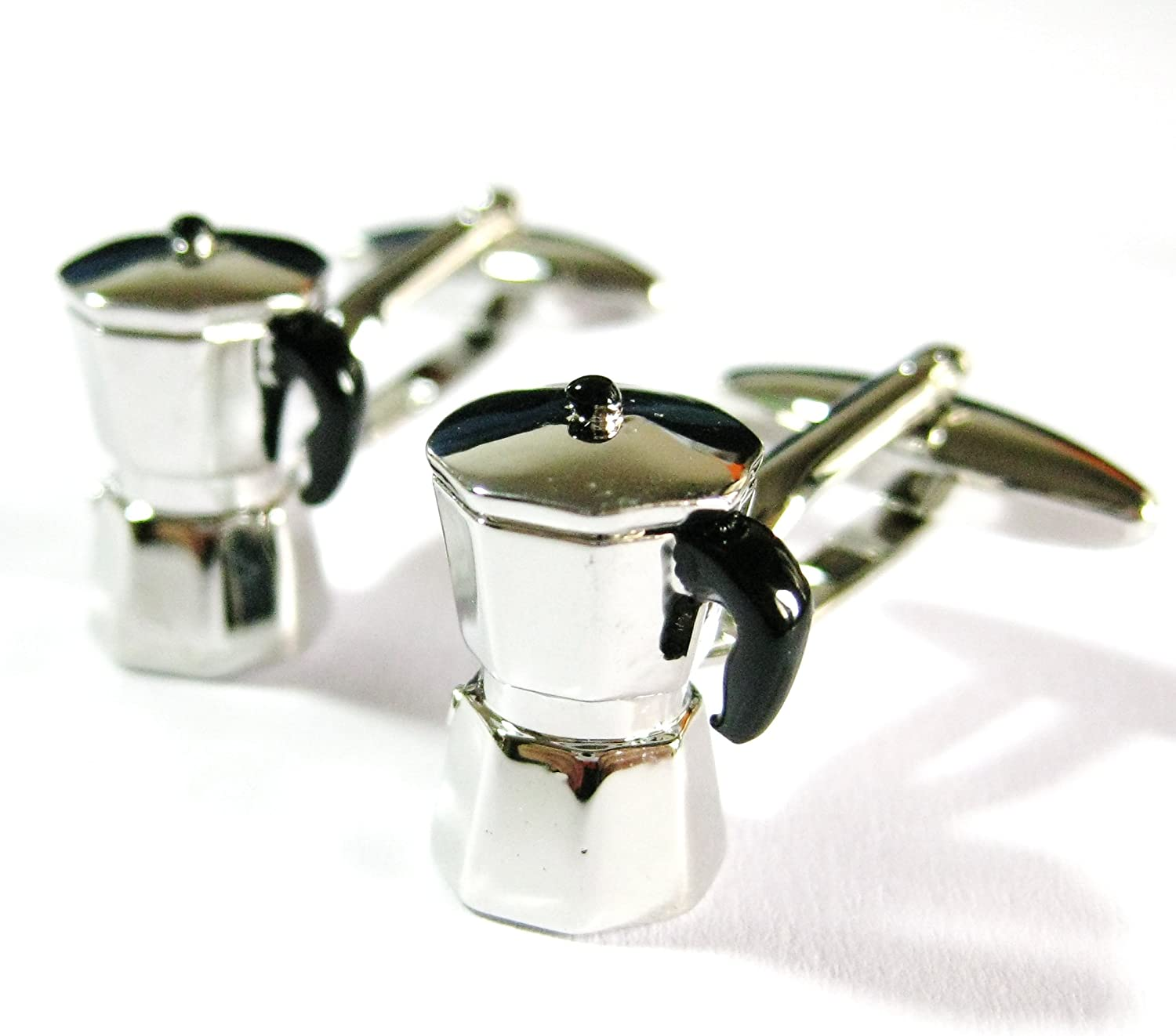 Tailor B 3D Italian Coffee Maker Cufflinks Breakfast Cuff Links 230209-1 NO BOX