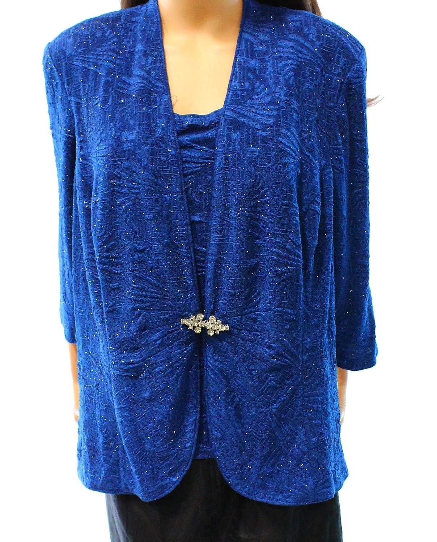 Onyx Nite Women's Plus Metallic Twinset Sweater