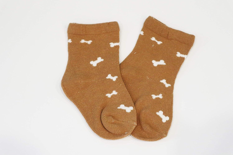 Confezione da 5 Paia Z-Chen Calzini in Cotone Disegni Animali Bimbi e Bambini