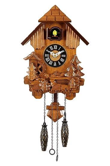 Buy HOROImported BROWN CUCKOO CLOCK HUT SHAPE WITH SINGLE BIRD