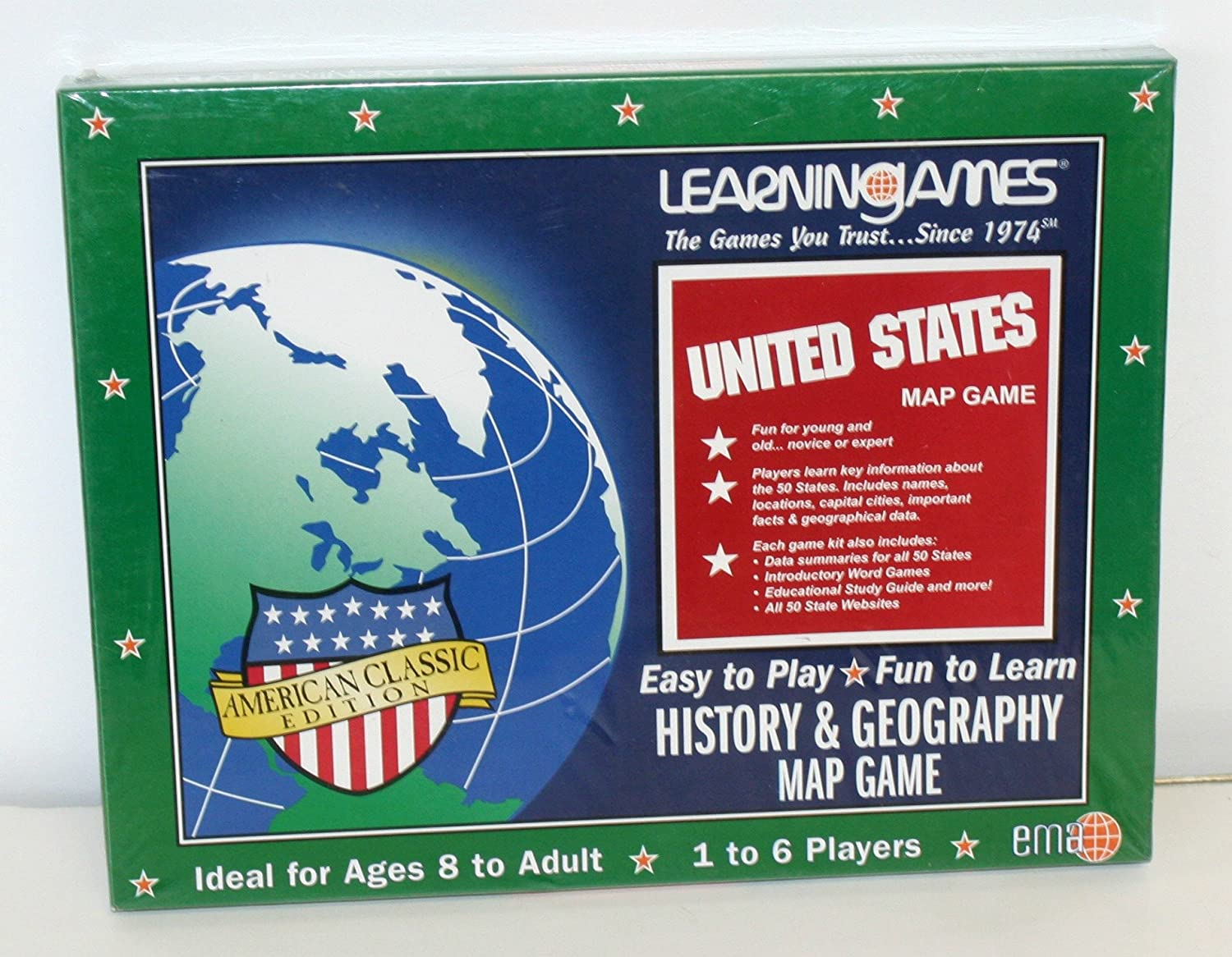 Amazon.com: United States Map Game History & Geography ... on australia map games, math map games, geography vocabulary, canada map games, southeast asia map games, geography flag games, weather map games, africa map games, africa country games, social studies map games, maps map games, african geography games, football map games, geography review, middle east map games, world map games, geography outline maps, europe map games, geography case study, usa map games,