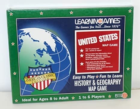 Amazon.com: United States Map Game History & Geography American ...