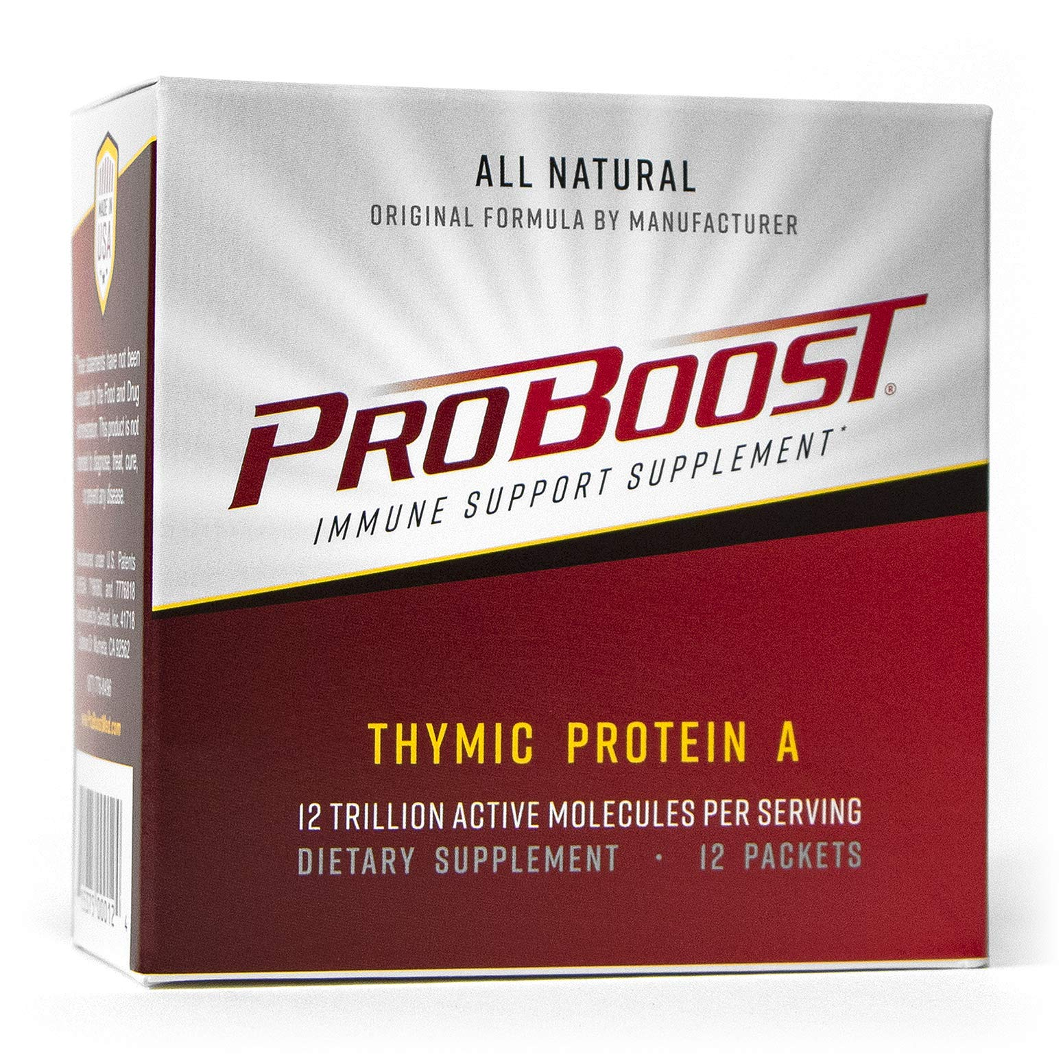 ProBoost, Thymic Protein A (TPA), 12 Packets with 4 mcg TPA/Packet - Immune Support Supplement by Genicel, Inc.