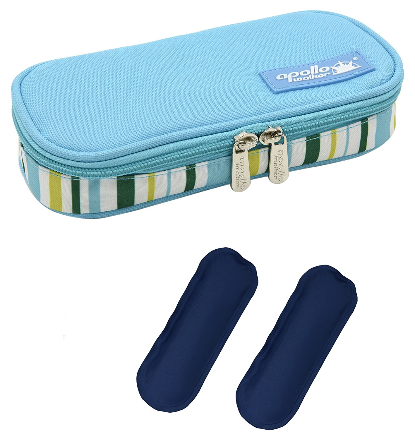 goldwheat Portable Medical Travel Cooler Bag Insulin Cooler Case Ice Bags with 2 Ice Pack