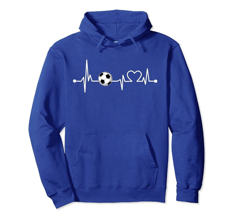 Soccer Heartbeat! I Love Soccer Funny Futbol Hoodie-alottee gift