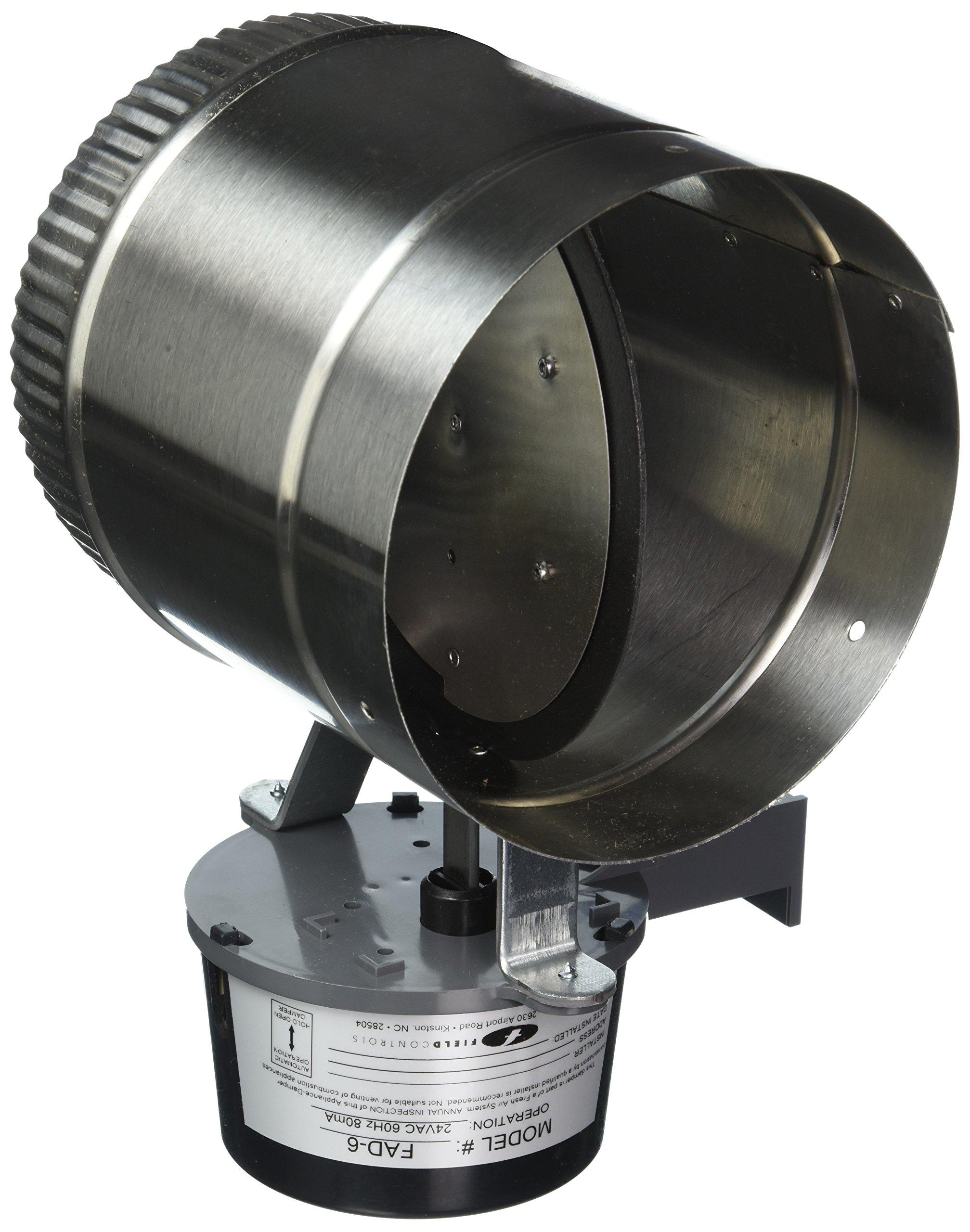 Field Controls FAD-6 Fresh Air Damper, 6''