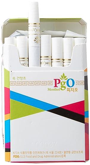 [PGO] cigarrillos de hierbas: 100% Artemisia, 1 paquete - Tabaco libre, libre de nicotina, aprobado por la FDA de Estados Unidos, 100% natural, sin ...