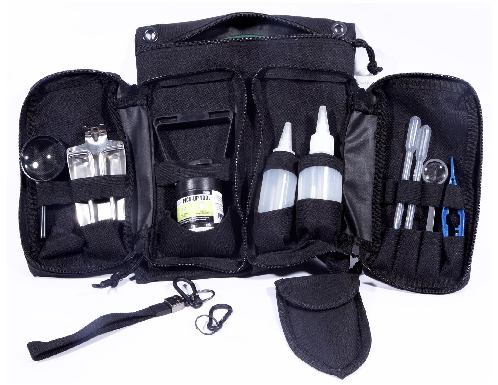 VAS 19 PC Prospectors Gold Panning Essentials Set Kit | Molle Bag | Magnetic Separator | Snifter Bottles | Trowel | Adults | Kids | Beginners Too! | Equipment for Metal Detecting & Gold Panning